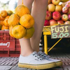 eco whoop sneaker #sustainable #ecofriendly #eco #upcycling #fruits