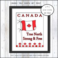 Canada, Canadian Art, True North, Wall Décor, Decoration, Fine Art America, Free Printable, Picture Frames, Vibrant Colors