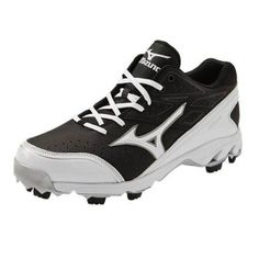 SALE - Mens Mizuno Elite 4 Baseball Cleats Black - Was $69.99. BUY Now - ONLY $59.99