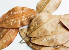 Fall Wedding Escort Cards