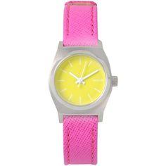 Nixon Wrist Watch (730 VEF) ❤ liked on Polyvore featuring jewelry, watches, yellow, nixon, yellow watches, yellow jewelry, nixon jewelry and nixon watches
