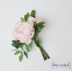 Peony Bridesmaid Bouquet - Bridesmaid Bouquet, Silk Bouquet, Greenery…