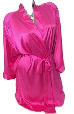 2a4d99240 Victoria's Secret Robe Satin Lace Bathrobe Kimono Hot Pink M/L NWT #Victoria  #