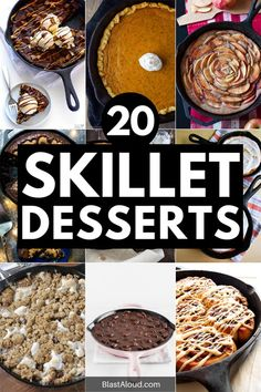 20 Easy Skillet Desserts Perfect For Pleasing a Crowd Iron Skillet Recipes, Cast Iron Recipes, Skillet Dinners, Quick Dessert Recipes, Delicious Desserts, Camping Desserts, Camping Recipes, Best Vanilla Cake Recipe, Skillet Cake