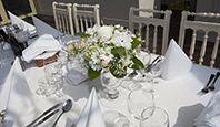 dekoracja stołu z okazji I Komunii Świętej