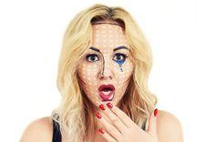 Happy Halloween!! Make Up Look for Girls - Pop Art #girly #halloween {red lips, blonde hair, beautiful}