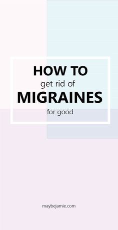 I no longer suffer from migraines, all thanks to this one thing!