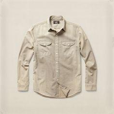 Striped Twill Workshirt - Standard-Fit  Casual Shirts - RalphLauren.com