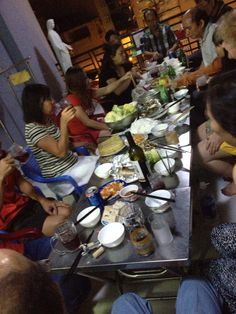 They ended up adding another table , Gi hues small family dinner with the elders  !!! Ward 13 tet 2015 happy lunar new year Ho Chi Minh city Vietnam