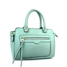 Spring Collection, Double Handle Designer Inspired Satchel Bag with Go – Handbag-Addict.com