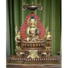 Topstuk altaar Akshobya Boeddha beeld