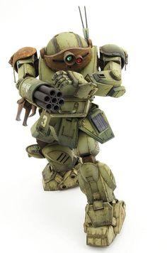 by Nobuo Shirakawa Battle Robots, Combat Armor, Armadura Medieval, Sci Fi Models, Gundam Art, Steampunk Design, Custom Gundam, Mechanical Design, Minis