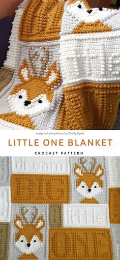 and Easy Crochet Baby Blankets. This blankie is made out of several differ.Sweet and Easy Crochet Baby Blankets. This blankie is made out of several differ. Baby Fox Bobble Stitch Blanket by Melu Crochet pattern Modern Crochet Gratis, Free Crochet, Knit Crochet, Crochet Mug Cozy, Crochet Afghans, Crochet Hooks, Knitting Projects, Crochet Projects, Knitting Ideas