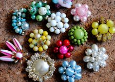 vintage earring push pins.