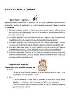 Ejercicios para la disfemia by MARIAMULAS via slideshare