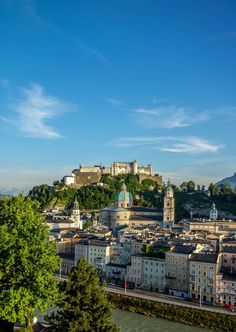 Salzburg City as seen from the Kapuzinerberg. We <3 Austria