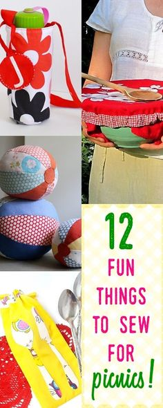 beginner sewing projects | summer sewing | water bottle cover tutorial | fabric ball tutorial