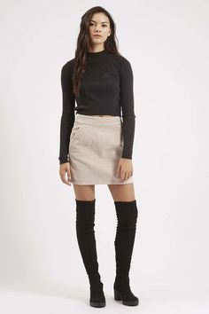 Photo 2 of MOTO Cord A-Line Skirt