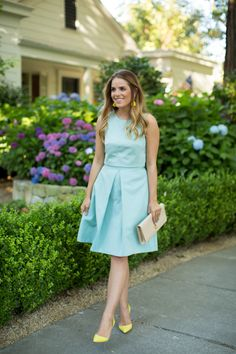 ideas wedding guest skirt outfit color combos for 2019 Spring Dresses, Spring Outfits, Summer Outfit, Dress Summer, Summer Wedding Guests, Trendy Wedding, Wedding Blue, Gal Meets Glam, Bridesmaid Dresses