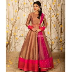 South Indian Gown : Golden and Pink Dashing Wedding Gown ... Mongoosekart Brings for you Huge collection of South Indian fashion gown, South Indian Dresses, South Indian Gows, South Wedding gowns, South Wedding dresses. Click Mongoosekart.com For more information.