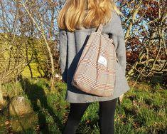 Handmade in Ireland using era wool suit fabric Fashion Bags, Boho Fashion, Fabric Tote Bags, Suit Fabric, Wool Suit, Zero Waste, Mindful, Sustainable Fashion, Ireland