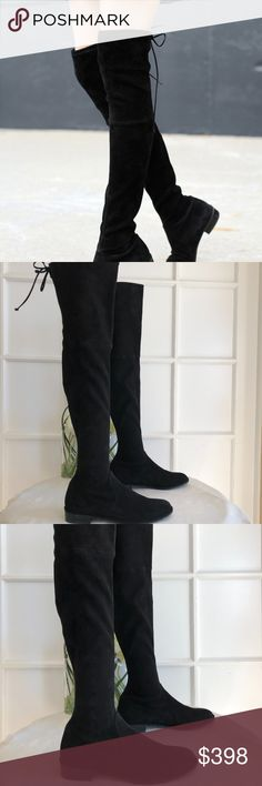 1fa361740b5 STUART WEITZMAN Lowland  Over the Knee Boot STUART WEITZMAN A single slim  lace cinches the