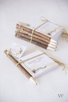 Rustic Wood Pencil and Notepad Favor we ❤ this! moncheribridals.com #weddingfavors
