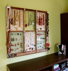 Jewelry organizer...great idea