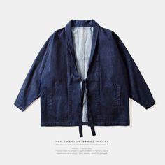 INF Mens | 2016 New Fashion Noragi kimono japanese shirt kanye west shirt Hemp Men shirt streetwear mens shirt