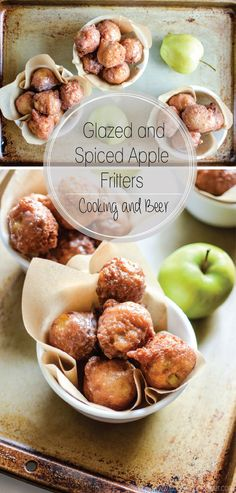Glazed Cinnamon Apple Fritters: the perfect bite to serve this fall! | #ad #KitchenAidContest @kitchenaidusa  www.cookingandbeer.com