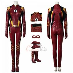 Item Number:dcthf014, Jesse Quick Costume The Flash Season 3 Cosplay High Quality Full Set on sale! Buy cheap and high quality D-C and Mar-vel cosplay costumes from cosercos.com