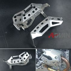 180.14$  Watch now - http://aiuj1.worlditems.win/all/product.php?id=1789893454 - FREE SHIPPING  Cylinder Head Guards Protector Cover Silver Fit for BMW R1200GS / RT, up to 2009