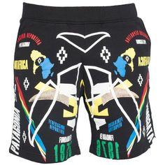 Marcelo Burlon Trousers ($160) ❤ liked on Polyvore featuring men's fashion, men's clothing, men's pants, men's casual pants, black and mens cotton pants