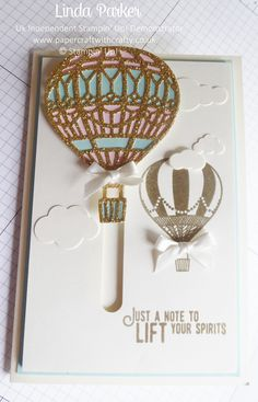 Kinetic/interactive card features on my Blog today - video coming soon.  Its a cheeky little mechanism x  Using Up and Away Thinlits and Life Me Up stamp set  http://www.papercraftwithcrafty.co.uk/2017/07/up-up-and-away-in-my-beautiful-balloon.html