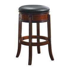 Boraam Magellan 29 in. Backless Swivel Bar Stool - Brandy - 43029