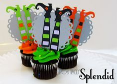 witch feet cupcakes