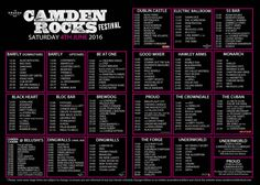 The official stage times have now been released for next week's Camden Rocks Festival. There'll be around 200 bands playing at the festival in various venues in Camden. Here are my pick…