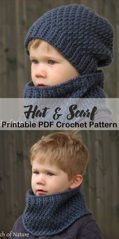 Make a matching hat & cowl- hooded scarf crochet pattern - hat scarf . - Make a matching hat & cowl- hooded scarf crochet pattern – hat scarf crochet pattern – hood cro - Crochet Kids Hats, Crochet Scarves, Crochet Baby, Free Crochet, Knit Crochet, Toddler Scarf Crochet Pattern, Slouch Beanie Crochet Pattern, Crochet Mittens Pattern, Knitting Scarves