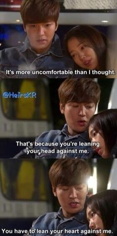 Awwww....sweet moments of Lee Min Ho and Park Shin Hye ♡ #Kdrama // The #HEIRS