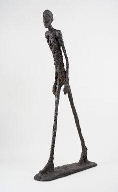 "Alberto Giacometti, ""Homme qui marche I /Walking Man I"", 1960 Alberto Giacometti, Guggenheim Museum Bilbao, Walking Man, Kindergarten Art Projects, Famous Art, Art Deco Wedding, Living Room Art, Art Club, Simple Art"