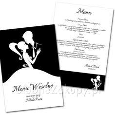 Wyszukane i stylowe Menu z kolekcji Zakochani będzie doskonale współgrać z każdym elementem wystroju stołu! #kolekcjaslubna #slub #wesele #dekoracjeslubne #podziekowaniadlagosci #ślub #wedding #wesele #love #slub #pannamloda  #bride #slubnaglowie #pannamłoda #miłość #weddingday #sesjaslubna #weddinginspiration #slubneinspiracje Menu, Cards Against Humanity, Menu Board Design