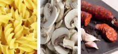 Fusilli mit Käse, Champignons und Chorizo  #Chorizo #IberischerChorizo #IbericoChorizo #Food #Essen #Gourmet  #GourmetEssen #PataNegra #PataNegraSchinken #Chorizo #Lebensmittel #Schweiz #Switzerland #Foodie #Wurstwaren #Pasta #Pilze Fusilli, Chorizo, Stuffed Mushrooms, Pasta, Vegetables, Food, Cheese Sauce, Sauces, Easy Recipes