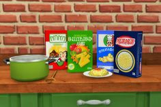 Sims 4 CC's - The Best: Pasta Boxes by Budgie2budgie