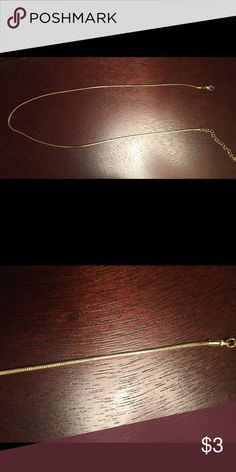 Gold Chain Not real gold...entire thing is approximately 1.5 feet long. Accepting reasonable offers. Jewelry Necklaces