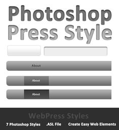 WebPress Photoshop Style. Professional text effect style for Photoshop. #Photoshop #PhotoshopAction #TextEffect #digitalart #design #creative #art #clean #elements #LetterPress #web #Web2.0 #WebPress