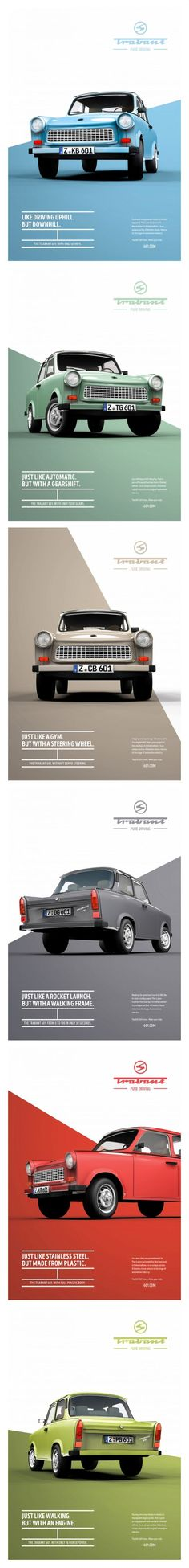 Trabant 601: Pure driving | design by Institute of Design, Düsseldorf, Germany: