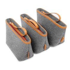 A basic daily cute wool felt bag.you can take it with you everywhere you go.  It is made of 100% nature wool felt and thick genuine leather.  With zipper closer and leather wristbands for holding.  Colour: gray Size: bottom:16x8 cm depth: 13 cm Ship from China.will take about 2 weeks to US,2-4 weeks to Europe.  -------------------------------------------------------------------------------------  Please view our shop to see more. https://www.etsy.com/shop/TopHome