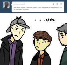 a ask bbc sherlock thing: (giggling!)