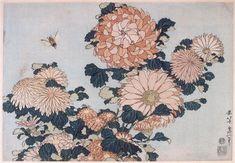 Chrysanthemums and Horsefly - Katsushika Hokusai