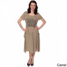 Nancy Yang -Blend Wooded Patch Blouson Dress